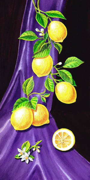 Wall Art - Painting - Lemons Of Sorrento by Irina Sztukowski