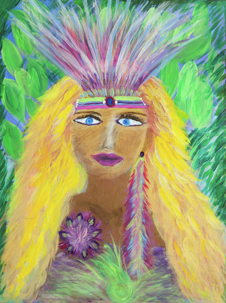 Crone Wall Art - Painting - Lemurian Goddess by Liana Shanti