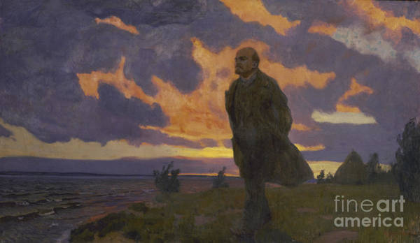 Painting - Lenin Near The River In 1917 by Celestial Images