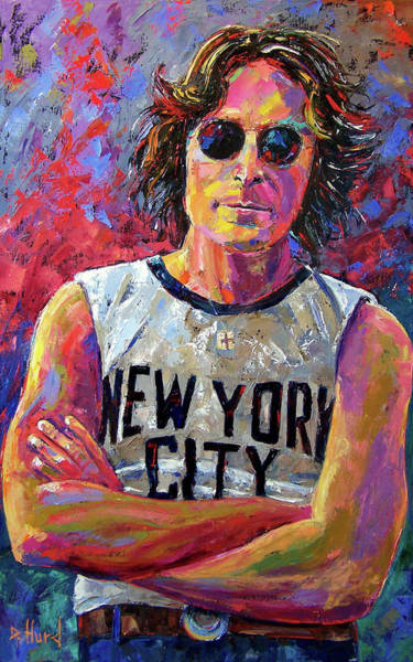 Wall Art - Painting - Lennon New York by Debra Hurd