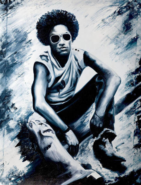 Rockstar Painting - Lenny Kravitz by Jocelyn Passeron