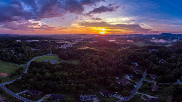 Lenoir North Carolina  Sunset Art Print