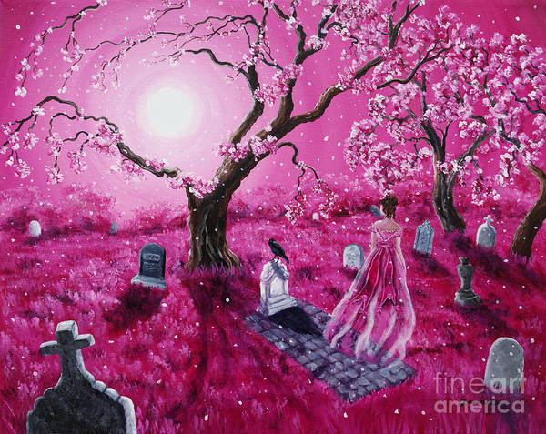 Poe Wall Art - Painting - Lenore In The Breaking Dawn by Laura Iverson