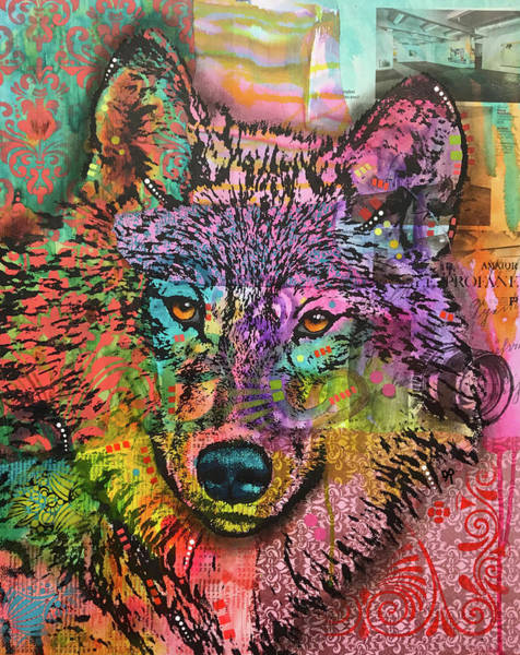 Painting - Lens Wolf by Dean Russo Art