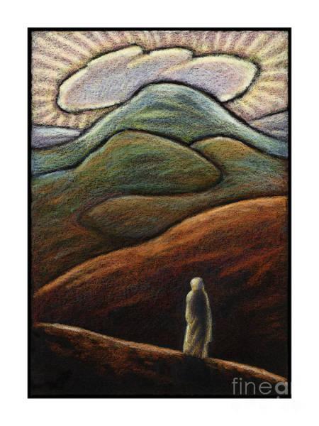 Painting - Lent, 1st Sunday - Jesus In The Desert - Jljid by Julie Lonneman