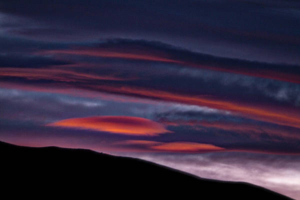 Photograph - Lenticular Clouds At Sunset - Patagonia by Stuart Litoff