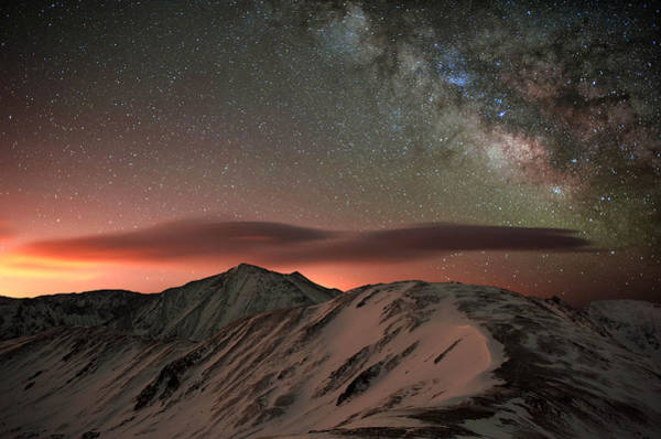 Pollution Photograph - Lenticular Mountain Milky Way by Mike Berenson