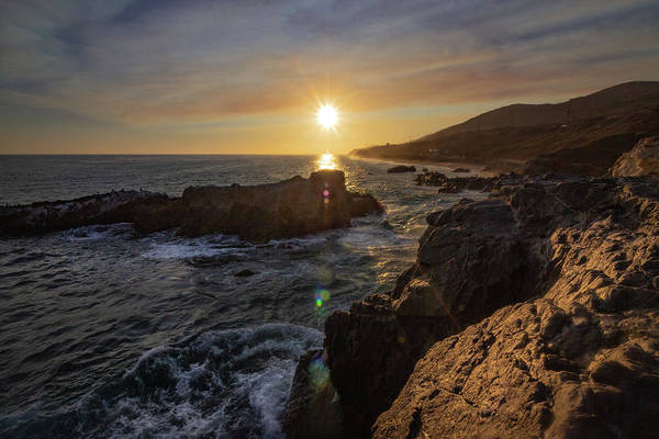 Photograph - Leo Carrillo State Beach At Sunset by Andy Konieczny
