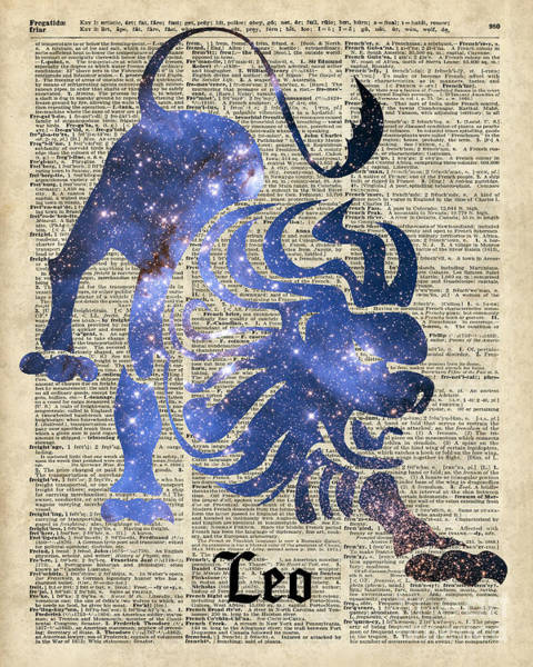 Wall Art - Digital Art - Leo Lion Zodiac  by Anna W