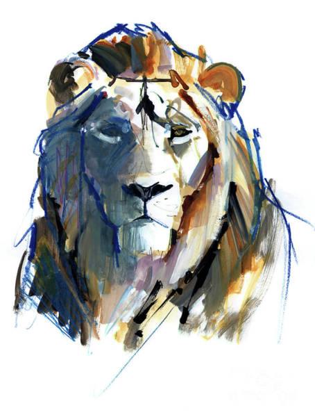 India Painting - Leo by Mark Adlington