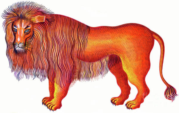 Orange Hair Painting - Leo The Lion by Jane Tattersfield