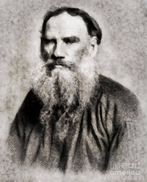 Poetry Painting - Leo Tolstoy, Literary Legend by John Springfield