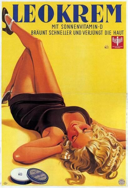 Sun Mixed Media - Leokrem - Mit Sonnenvitamin-d - Vintage Advertising Poster by Studio Grafiikka