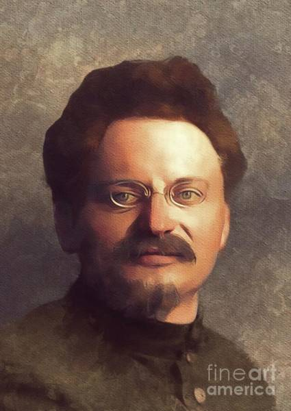 Communist Painting - Leon Trotsky, History Portraits by Mary Bassett
