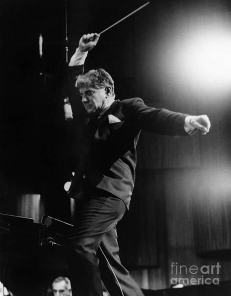 Wall Art - Photograph - Leonard Bernstein by Granger