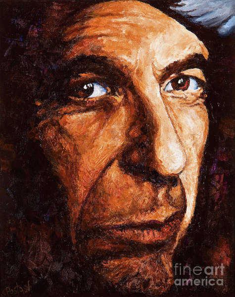Painting - Leonard Cohen by Igor Postash