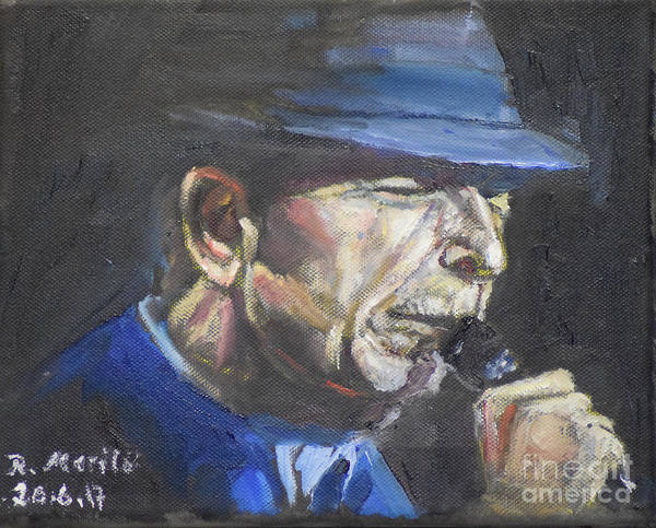 Painting - Leonard Cohen by Raija Merila