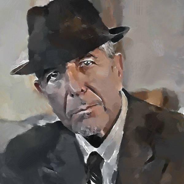 Leonard Cohen Tribute 4 Art Print