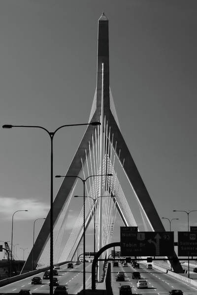 Photograph - Leonard P Zakim Bridge 3 by Joann Vitali