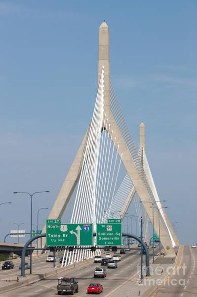 Photograph - Leonard P. Zakim Bunker Hill Bridge I by Clarence Holmes