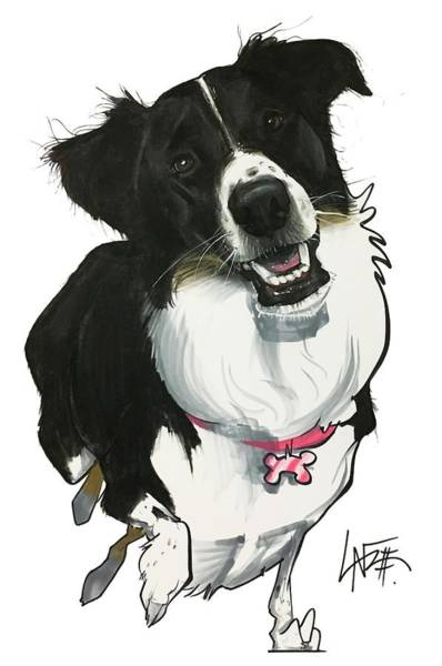 Pet Portrait Drawing - Leone 7-1488.2 by John LaFree