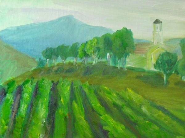 Painting - Leonesse Cellars Home On The Hill by Jeremy McKay