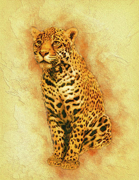 Tan Cat Wall Art - Painting - Leopard 4 by Jack Zulli