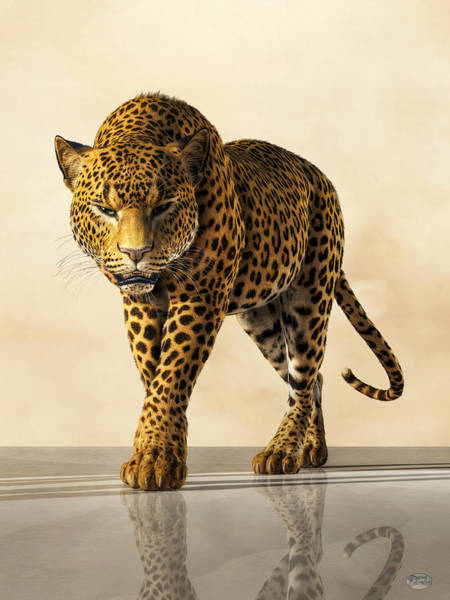 Digital Art - Leopard by Daniel Eskridge