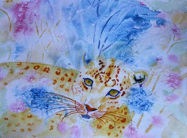Painting - Leopard Hide And Seek by Vera Smith
