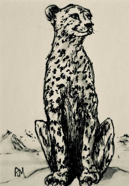Thumbnail Painting - Leopard by Pete Maier