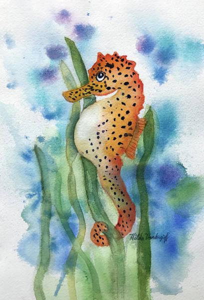 Painting - Leopard Seahorse by Hilda Vandergriff