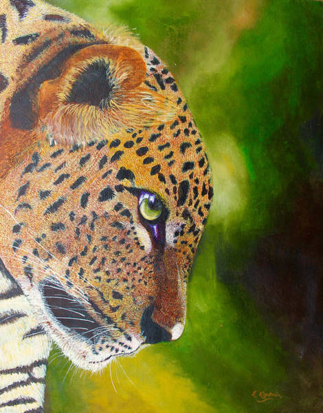 Painting - Leopard Stare by Richard Kimenia