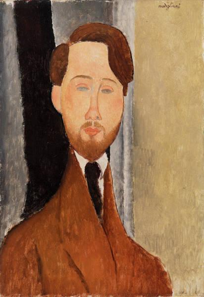 Style Painting - Leopold Zborowksi by Amedeo Modigliani