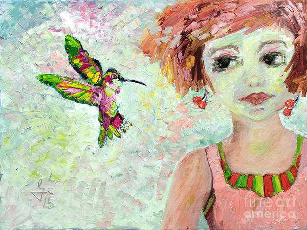 Painting - Leora Attracts Hummingbirds by Ginette Callaway