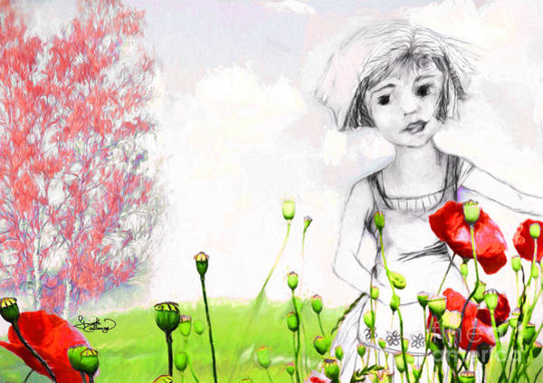 Digital Art - Leora In Her Garden by Ginette Callaway