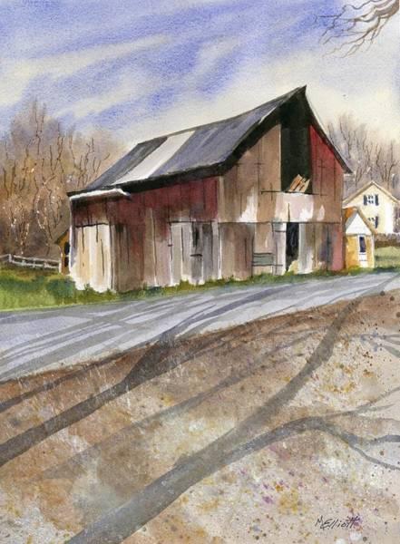 Wall Art - Painting - Leo's Barn by Marsha Elliott