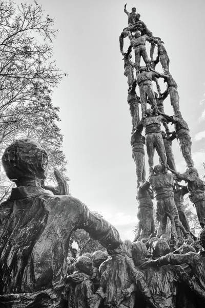 Photograph - Les Castellers Monument In Tarragona by Fine Art Photography Prints By Eduardo Accorinti