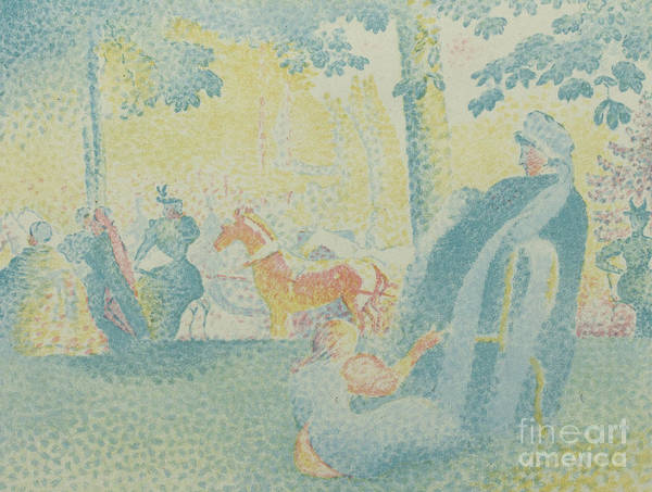 Wall Art - Painting - Les Champs Elysees, From Pan, 1898 by Henri Edmond Cross