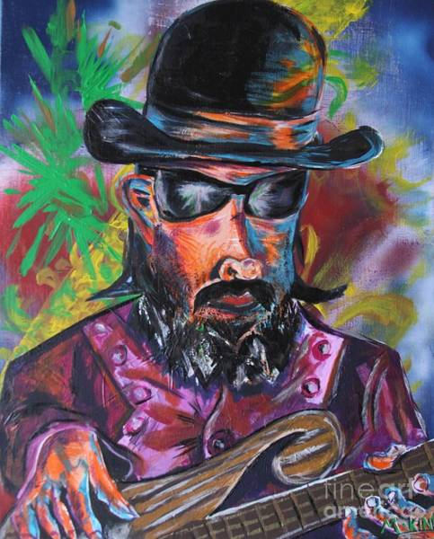 Bass Guitar Painting - Les Claypool by Kevin King