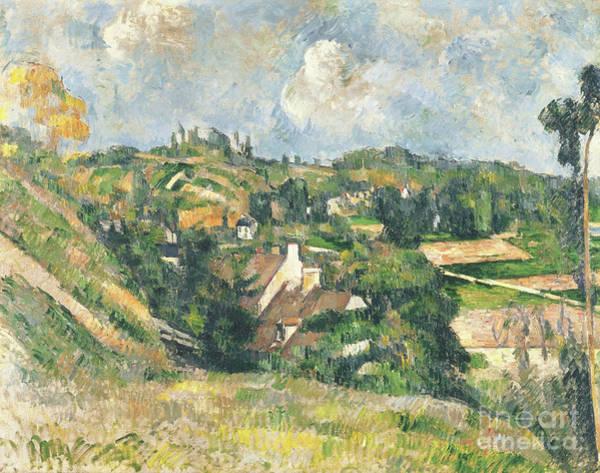 Wall Art - Painting - Les Coteaux Du Chou, Pontoise, 1882 by Paul Cezanne