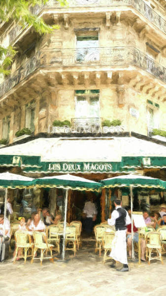 Wall Art - Photograph - Les Deux Magots - Impressionistic by Stephen Stookey