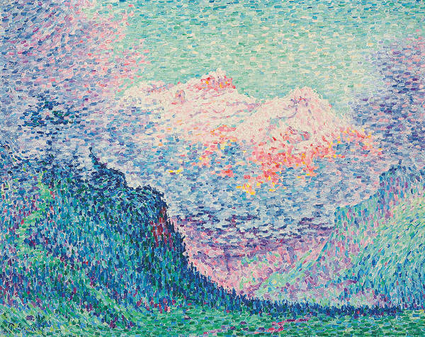 Terrain Painting - Les Diablerets by Paul Signac