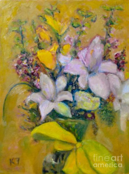 Wall Art - Painting - Les Fleurs De Mai by Karen Francis