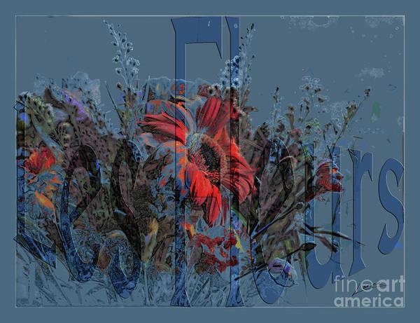 Fleur Digital Art - Les Fleurs by Lance Sheridan-Peel