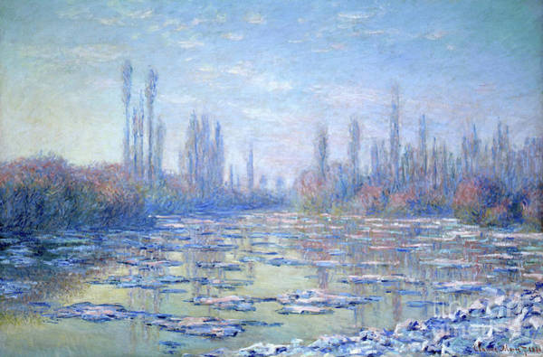 Wall Art - Painting - Les Glacons, 1880 by Claude Monet
