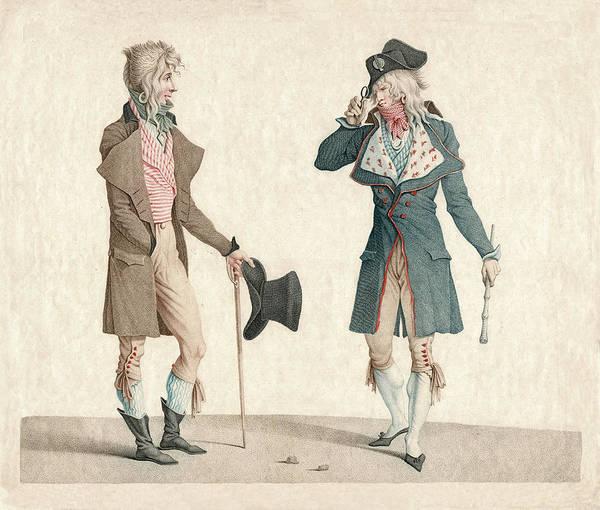 Et Digital Art - Les Incroyables French Vintage Fashion by Antique Images