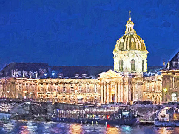 Digital Art - Les Invalides In The Evening by Digital Photographic Arts