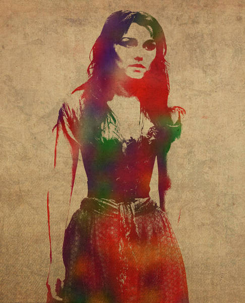 Wall Art - Mixed Media - Les Miserables Watercolor Portrait Series 005 by Design Turnpike