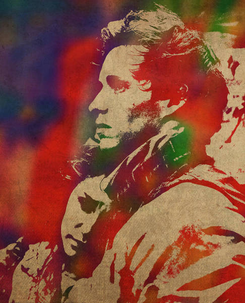 Wall Art - Mixed Media - Les Miserables Watercolor Portrait Series 006 by Design Turnpike