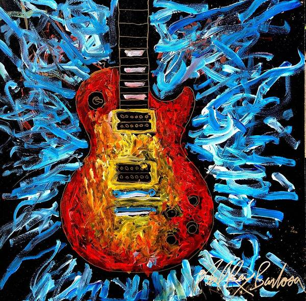 Painting - Les Paul Explosion by Neal Barbosa